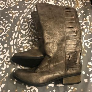 Girls Stevie's  #highfive cowboy boots size 4 new